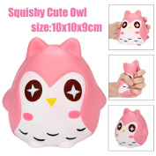UPXIANG Lovely Cartoon Owl Doll Squeeze Jumbo Stress Reliever Soft Toys Scented Slow Rising