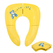 Foldable Travel Potty Seat Non-Slip Potty Ring Seat Toilet Training Seat Ladder Seat with Carrying Bag for Children Babies Toddlers