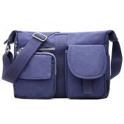 Women Cross Body Shoulder Bags Waterproof Nylon Messenger Bags Casual Multi Pocket Large Capacity Handbag Tote Purse