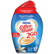 Nestle Coffeemate 2Go French Vanilla Concentrated Liquid Coffee Creamer 90ml Bottle