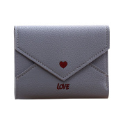 Fixuk Love Heart Faux Leather Wallet Card Holder Buckle Short Purse Gift