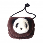 prelikes Kids Plush Kawaii Panda Single Cross Body Shoulder bag Pouch Purse Handbag
