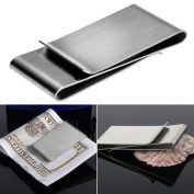 timeracing Fashion Stainless Steel Silver Colour Slim Money Clip Purse Wallet Credit Card ID Holder Purse