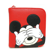 Disney Mickey Mouse Hide Lightweight Wallet Card Coin Holder for Kids