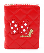 Disney Minnie Mouse Dot Ribbon Wallet Card Coin Holder Organiser for Girl Women