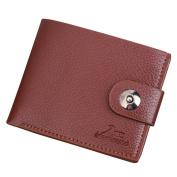 Men Faux Leather Slim Wallet Money Clip ID Credit Card Holder Storage Purse