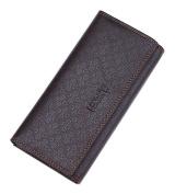 Fashion Leather Wallet,cards bag, Purse, 18 Pockets Total (13 Credit Card Slots,4 large slot pockets,1 ID Slot) WA@KTWWZ04LC