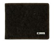 Cork wallet for men vegan gift cardholder Black and White
