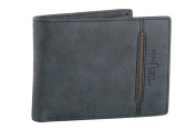 Wallet man ANTONIO BASILE blue with coin purse and flap