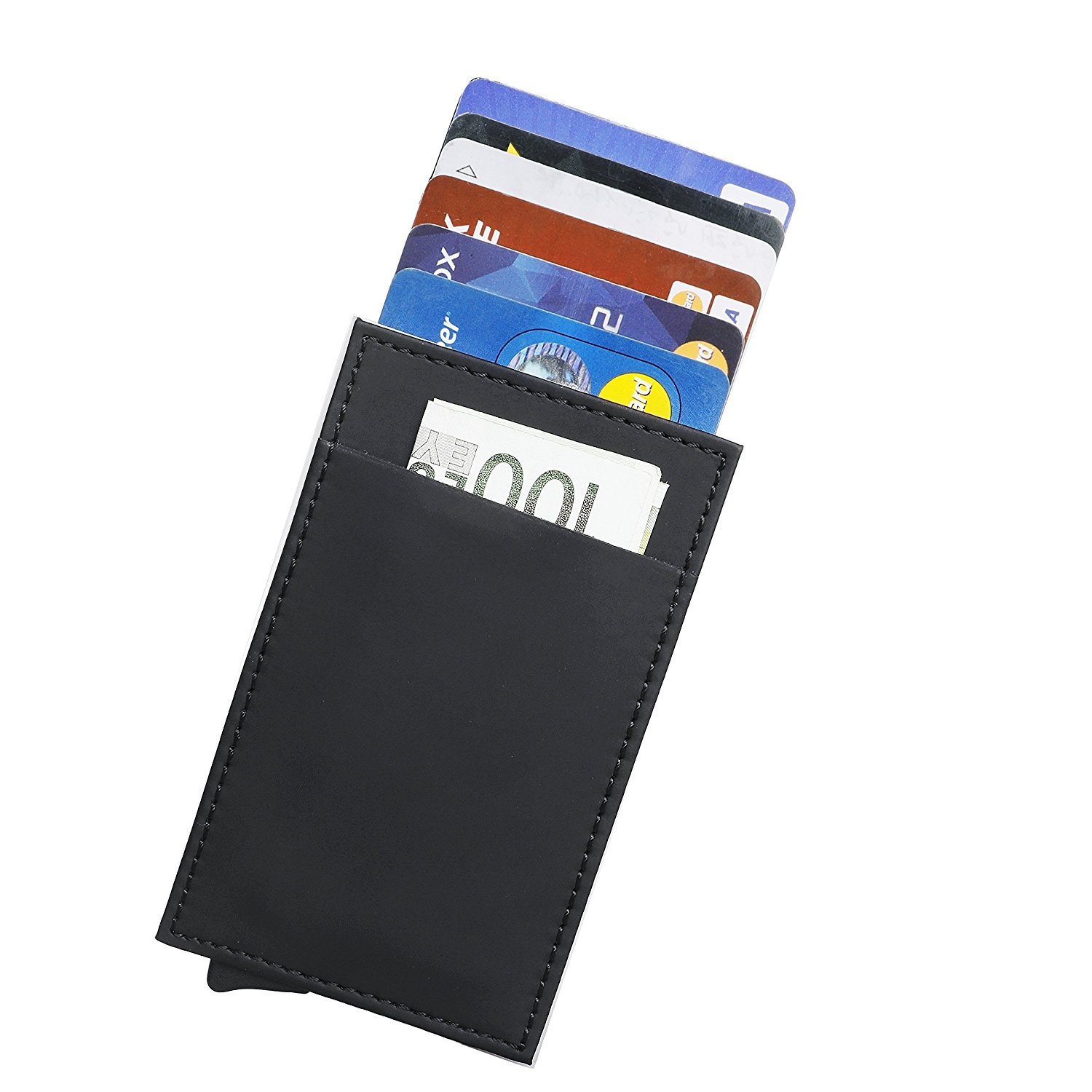 Credit cards wallet cashnox rfid blocking business credit card credit cards wallet cashnox rfid blocking business credit card holder aluminium automatic pop up card case silverwith money slot t by cashnox shop reheart Choice Image