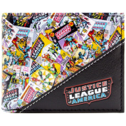 Justice League Comic Cover Collection Black ID & Card Bi-Fold Wallet