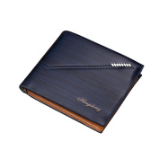 Toamen MENS HIGH QUALITY LUXURY SOFT LEATHER TRI FOLD WALLET CREDIT CARD SLOTS