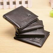 CWAIXX Wallet men's wallets wallet purse youth across multiple business card wallet coin purse , Black