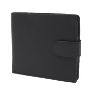Mens Leather Bifold Wallet Notecase for Cards ID Banknotes Coins Gift Boxed Pablo