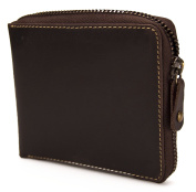 Visconti Hunter Distressed Oiled Leather Mens Wallet / Notecase With Zip Round Fastening BULLET # 702