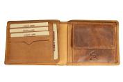 Hill Brown Vintage Leather Men's Wallet Brown Wallet Soft Leather V98 – 12,5x10x2 cm