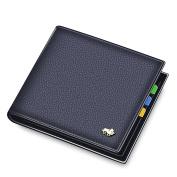 BISON DENIM Men's Genuine Leather Mini Wallet Coin Card Holder Pocket Purse