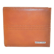 Geoffrey Beene Men's Leather Bifold Wallet with Burnished Edges