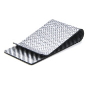 Sharplace Carbon Fibre Money Clip Glossy Wallet Credit Card Real Mens Business Grey