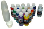 14 Pearlized/Pearl CREATEX AIRBRUSH PAINT colours SET