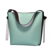 S-ZONE Women's Colour Blocking Genuine Leather Tote Shoulder Handbags Hot Bag