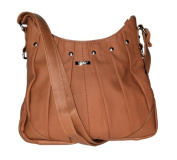 On Trend Ladies Leather Handbag Bag Latest Style - Black, Brown, Tan or Red