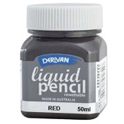 Derivan LP5RR 50ml Rewettable Red Liquid Pencil