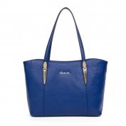 BOSTANTEN Genuine Leather Handbags Designer Shoulder Tote Bag for Women Blue