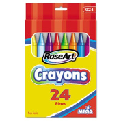 RoseArt 24-Colour Crayons, Packaging May Vary