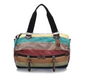 KISS GOLD(TM) Women's Canvas Multi-Colour Shopper Tote Shoulder Bag