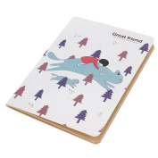 Unique Bargains Cartoon Pattern Yellow Paper Diary Memo Notepad Notebook 48 Pages