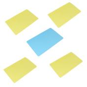 Unique Bargains 5 Pcs Plastic 11.5 x 7.5 Writing Board Bill Paper Mat Holder school Office Home Shop Yellow Blue