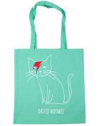 HippoWarehouse David Meowie Tote Shopping Gym Beach Bag 42cm x38cm, 10 litres