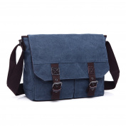 LOSMILE Men's Shoulder Bag, Canvas Messenger Bag Vintage Crossbody Bags 34cm Laptop Bags.