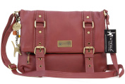 Catwalk Collection Leather Cross-Body Bag - Abbey Road