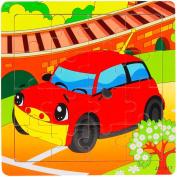 Hunpta 15CMX15CMX0.5CM Wooden Puzzle Educational Developmental Baby Kids Training Toy