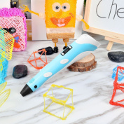 3D Printing Pen, 3D Arts Craft Home Decor Maker for Doodling Graffiti Model Lover with 2Bags Free Filament