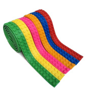 VI AI 6 Rolls Loops Building Block Tape Roll Self-Adhesive Compatible Red Blue Yellow Green Pink Yellow