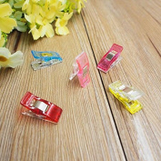 RICISUNG Mixed Colour Plastic Sewing Craft Quilt Binding Clips Clamps
