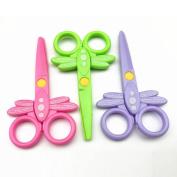 Hunpta Quality Safety scissors Paper cutting Plastic scissors Children's handmade toys