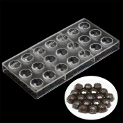 21 cells Kitchen Baking Chocolate Mould,Chocolate Bar Mould,Polycarbonate Wedding Chocolate Lolly Moulds,Plastic Candy Cake Cupcake Baking Pan, Bakeware Moulds Tool - 14.5cm x 28cm x 2.5cm