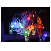 Bescita 10 LED Photo Clips Copper Wire String Light, Battery Powered, 1.5M LED Clips Lights Fairy Twinkle Lights for Wedding Party Christmas Home Decor, Hanging Photos, Memos, Cards and Artwork