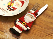 Swan household ® - Pack Of 4 - Christmas decorative Cutlery Holders