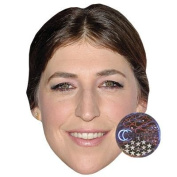 Mayim Bialik Celebrity Mask, Card Face and Fancy Dress Mask