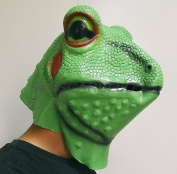 MASCARELLO®Frog Toad Latex Animal Head Mask Halloween Costume Party Adult Size Full Overhead Props Mask