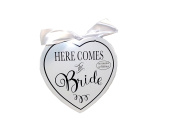 Amscan International 241432 MDF Here Comes The Bride Sign