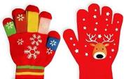 Assorted Design Children Christmas Hand Gloves Mittens Boys Girls Unisex Winter Gift