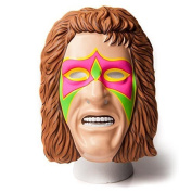 WWE Official - The Ultimate Warrior Fancy Dress Up Wrestling Mask Costume - Over 20 Years Old Collectors Piece Merchandise - W. Elasticated Strap