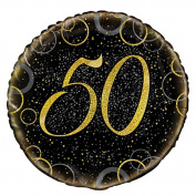 46cm Glitz Gold Foil 50th Birthday Balloon