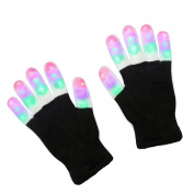 bismarckbeer Party LED Flashing Gloves Glow Light Up Finger Lighting Halloween Xmas Glove Toy